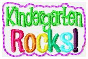 Kindergarten Rocks Feltie Embroidery File