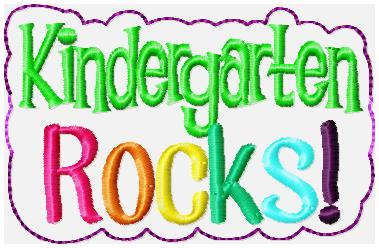 Kindergarten ROCKS! Embroidery File