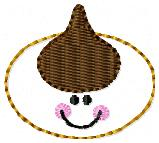 Smiley Cookie Embroidery File