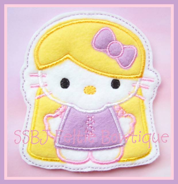 Princess Kitty Tangled Embroidery File