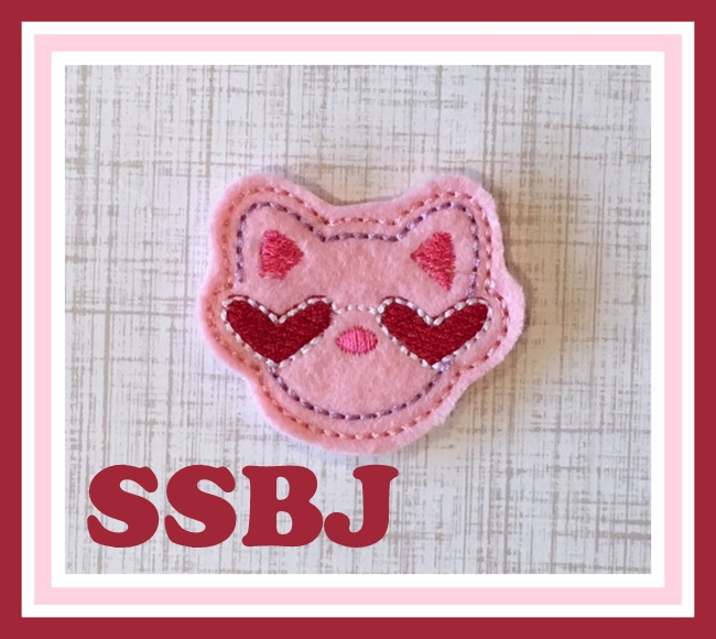 SSBJ Valentine Kitty Embroidery File