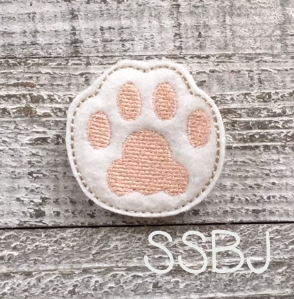 SSBJ Kitty Paw Embroidery File