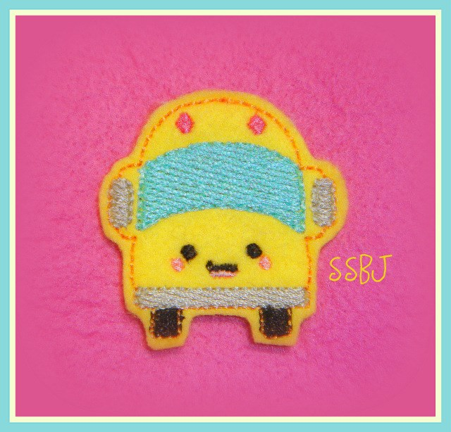 Kutie School Bus Embroidery File