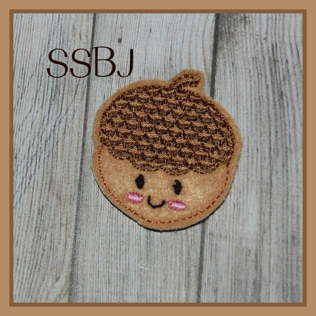 SSBJ Kutie Fall Friends Acorn Embroidery File