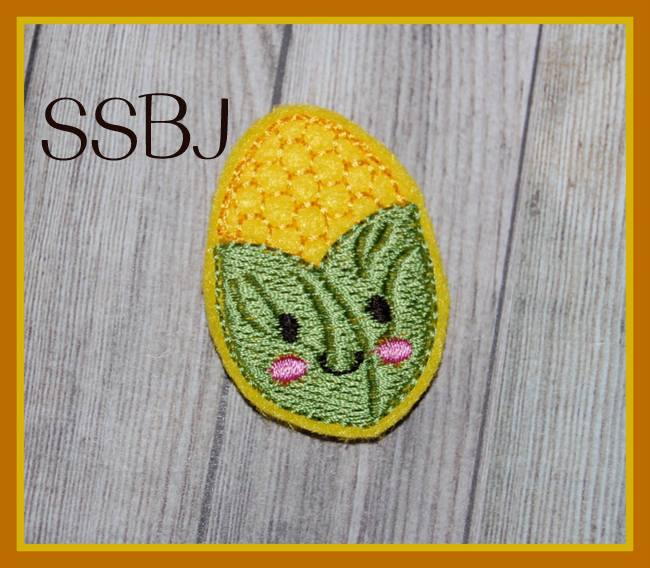 SSBJ Kutie Fall Friends Corn Cob Embroidery File