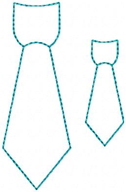 LBS Dad's Neck Tie Embroidery File