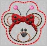 Ladybug Bear Embroidery File