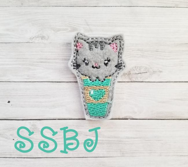 SSBJ Meow Latte Embroidery File