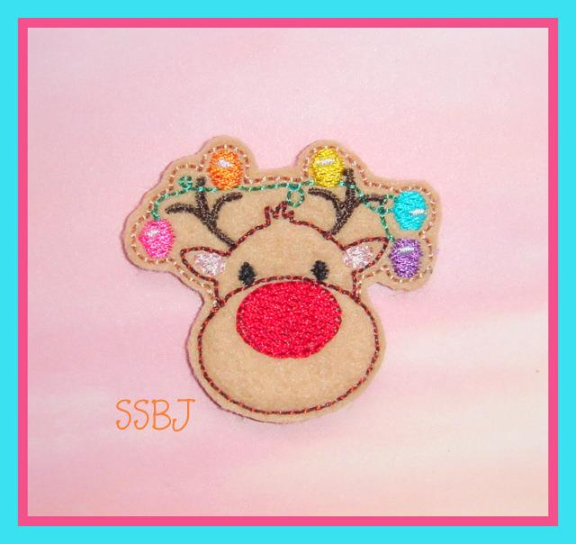 Lighted Deer Embroidery File