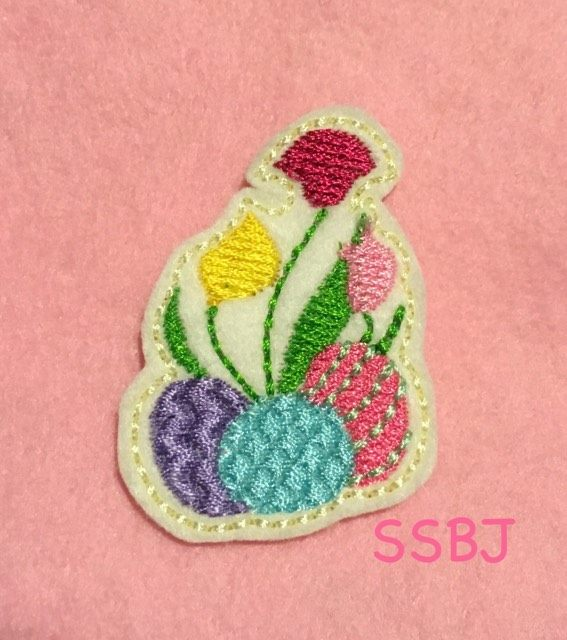 SSBJ Lillies & Eggs Embroidery File