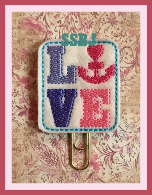SSBJ Love Anchor Embroidery File