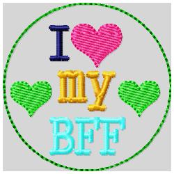 Love My BFF Embroidery file