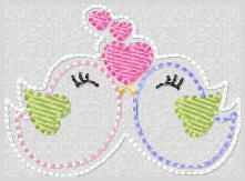 Lovebirds Embroidery File