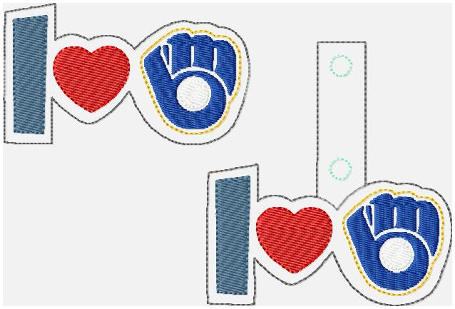Love Brewers Glam Band & Key Fob Embroidery File