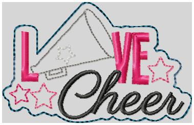 Love Cheer Embroidery File