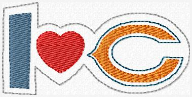Love Chicago C Embroidery File