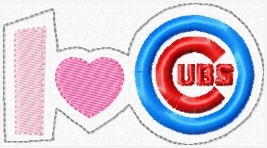 I Love Cubs Glam Band