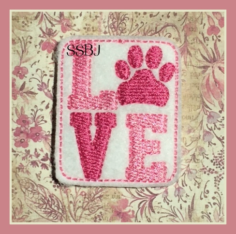 SSBJ Love Paw Embroidery File