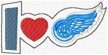 Love Redwings Feltie Embroidery File