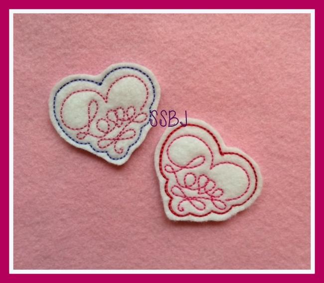 Love Ribbon Embroidery File