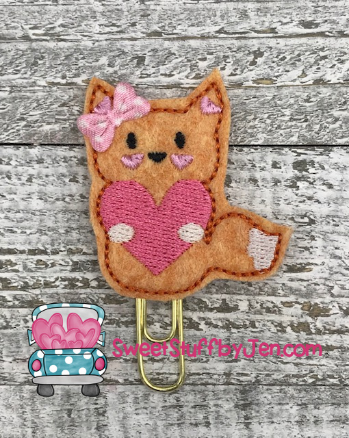 SSBJ Fox Love Embroidery File