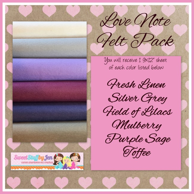 Love Note Valentine Felt Pack