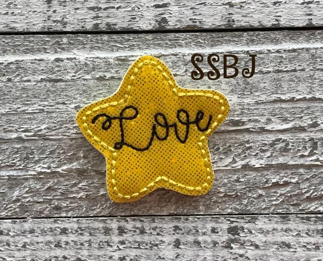 SSBJ Love Star Embroidery File