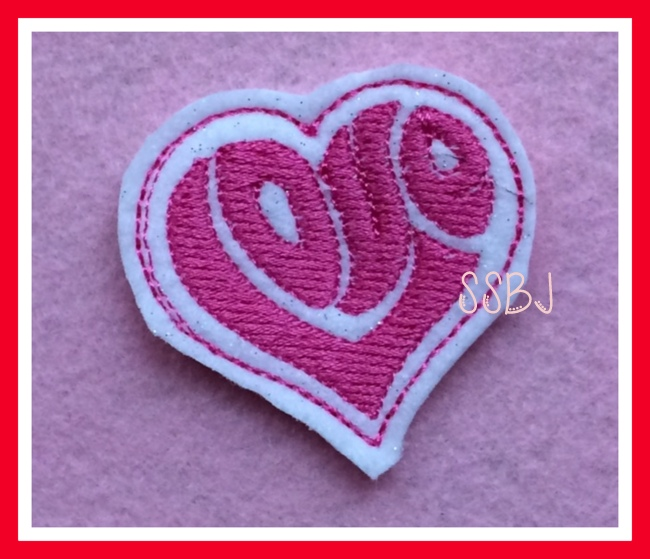 My Heart is Filled with LOVE Embroidery File