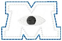 MU Minion University Embroidery File