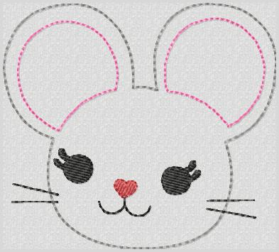 M2M Mouse Feltie Keeper Embroidery File