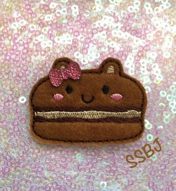 SSBJ Macaron Bear Embroidery File