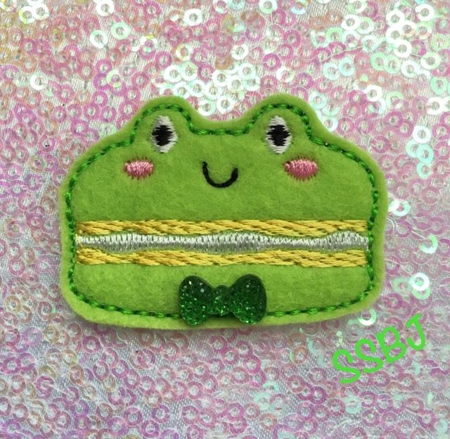 SSBJ Macaron Frog  Embroidery File