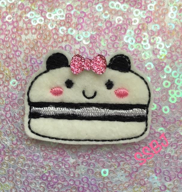 SSBJ Macaron Panda Embroidery File