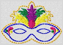 Mardi Mask Embroidery File