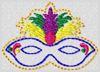Mardi Mask Embroidery File