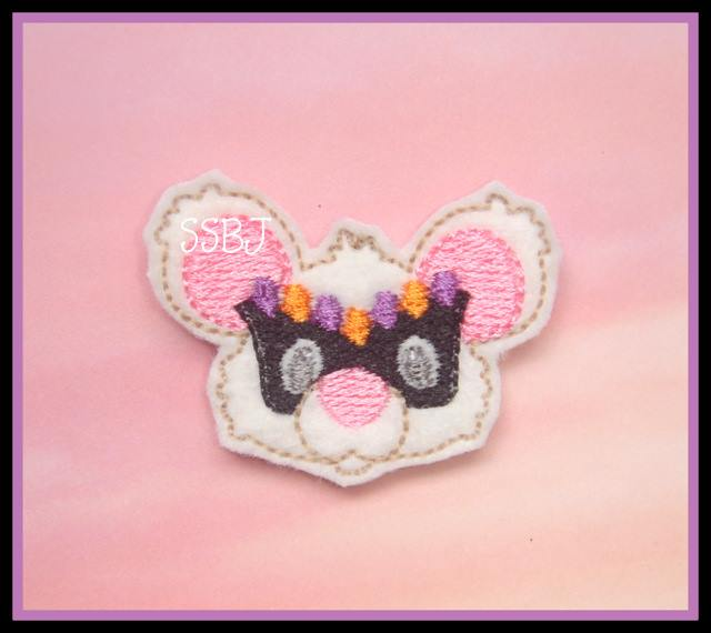 Masked Mouse Embroidery File