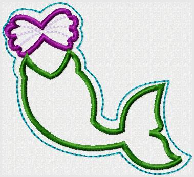 Mermaid FK Dress Embroidery File