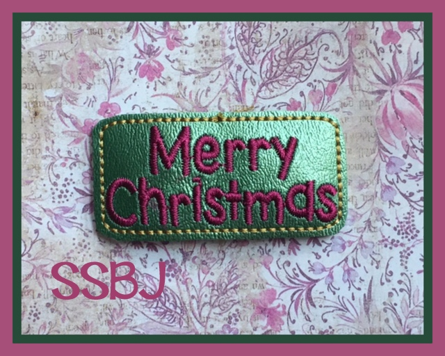 SSBJ Merry Christmas Cover Embroidery File