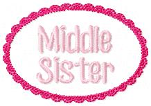 Middle Sister Lace Oval Embroidery File