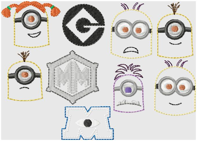 Minion ALL Embroidery Files