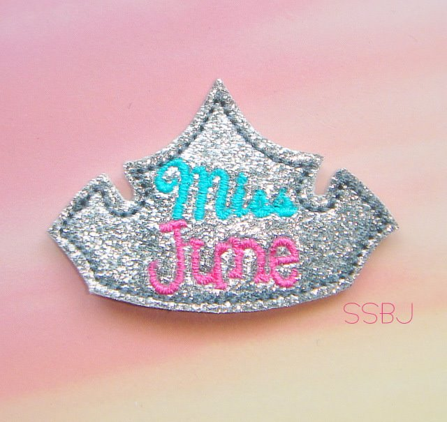 Miss Months June Embroidery File