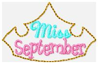 Miss Months September Embroidery File