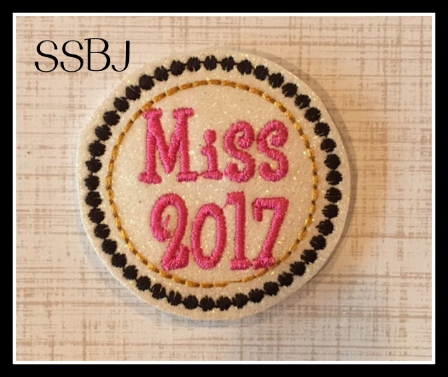 SSBJ Miss 2017 Embroidery File
