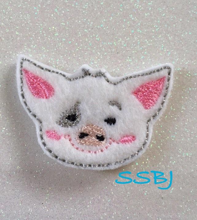SSBJ Pua Pig Moana Embroidery File