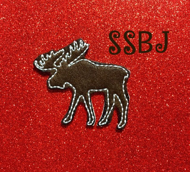 SSBJ Moose Body Outline Embroidery File