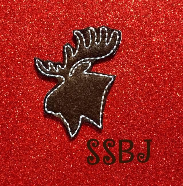 SSBJ Moose Head Outline Embroidery File