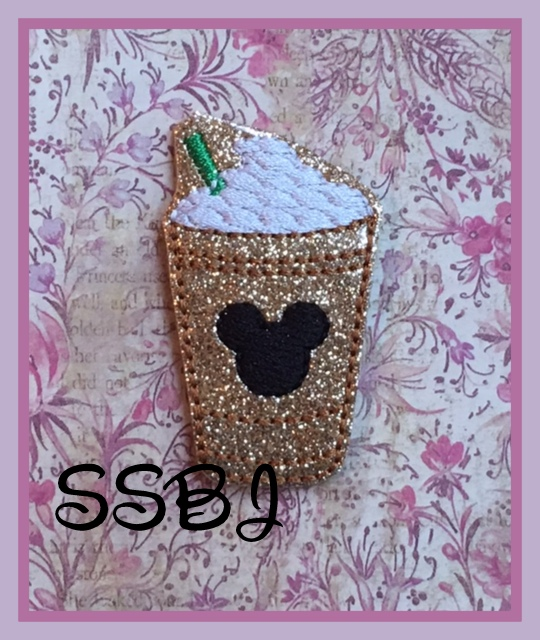 SSBJ Iced Coffee Mr Mouse Embroidery File