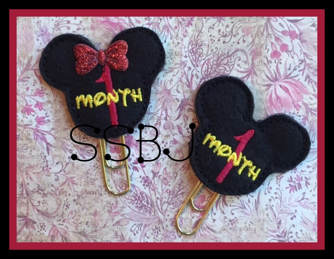 SSBJ Mouse Months 1-6 Embroidery File