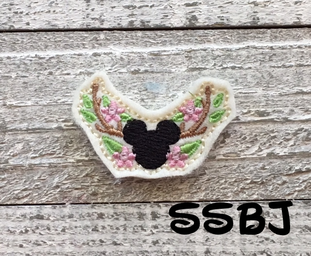 SSBJ Deer Horn Mouse Embroidery File