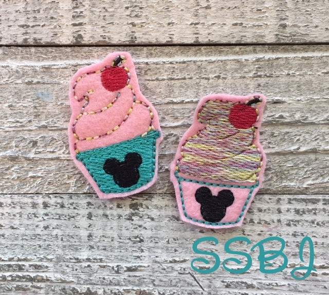 SSBJ Mouse Soft Serve Ice Cream Embroidery File